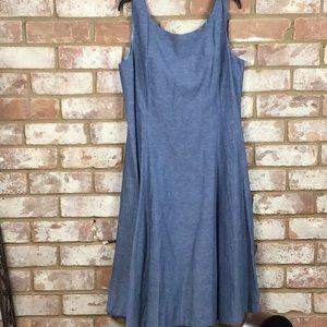 NWOT Chadwicks Chambray Sleeveless Dress
